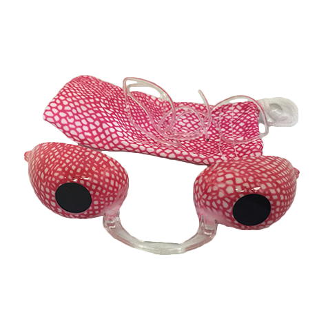 Pink Snake Skin Fashion Podz - Fashionable Tanning Goggles with Case