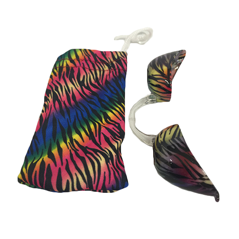 Rainbow Tiger Stripes Fashion Podz - Fashionable Tanning Goggles with Case