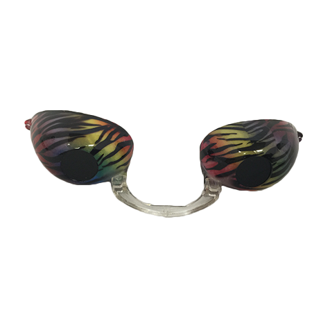 Rainbow Tiger Stripes Fashion Podz - Fashionable Tanning Goggles