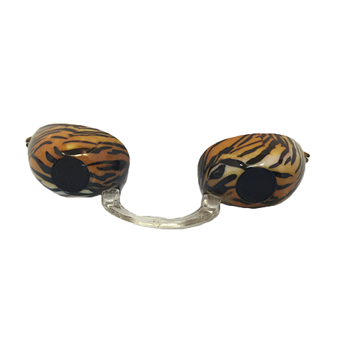Tiger Stripes Fashion Podz - Fashionable Tanning Goggles