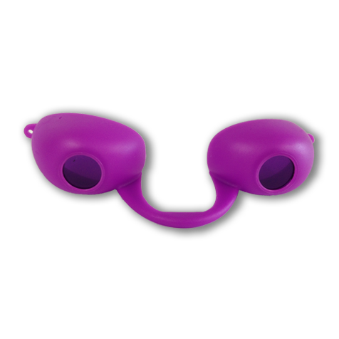 Purple Flex Podz - Traditional Flexible Soft Tanning Goggles