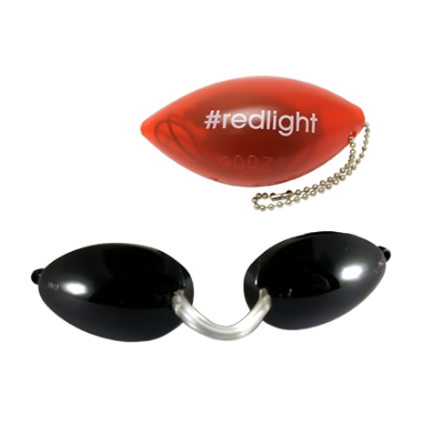 Opaque RedLight Soft Podz - Soft Tanning Goggles